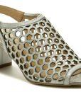 Mintaka 911025N-24 stříbrná dámská letní obuv na podpatku - také pro plnoštíhlé